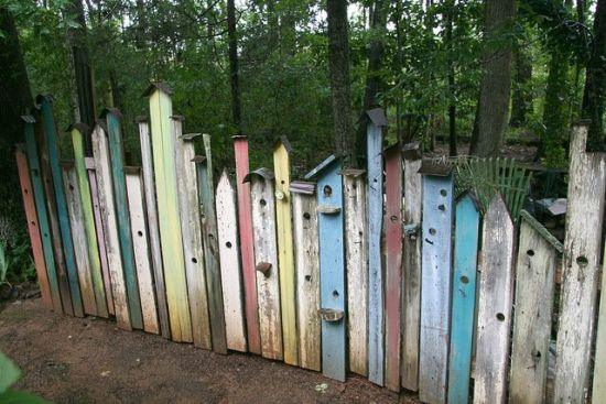 Unique Birdhouse Garden Fence