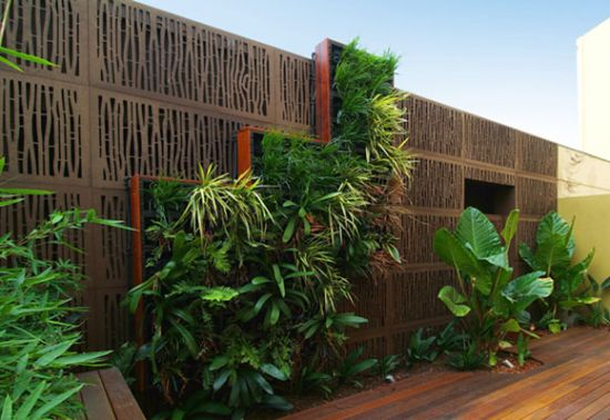 Vertical Garden Fence Design