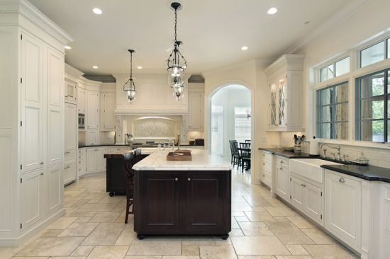 light and dark accented modern luxurious kitchen design - Luxury Kitchen Designs