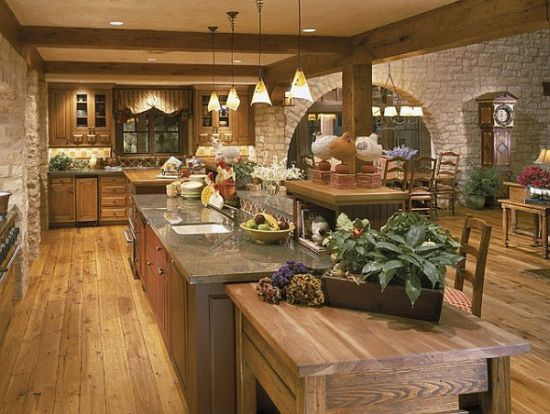 Luxurious kitchen design with rustic tones