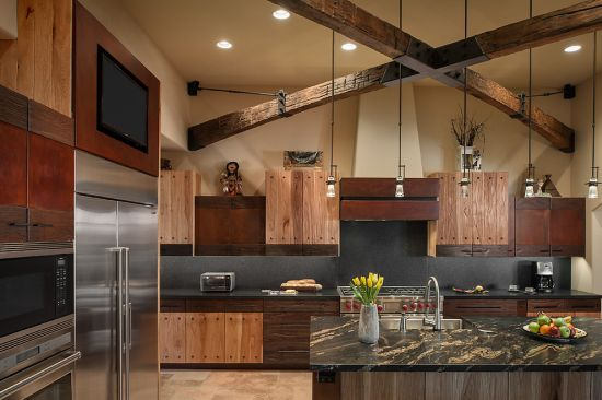 Luxury Rustic Kitchen Design In A Desert Arizona House