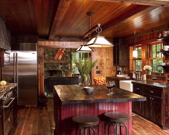 Rustic Country Kitchen Colors