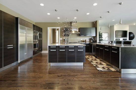 modern luxury kitchen design with stainless appliances - Luxury Kitchen Designs