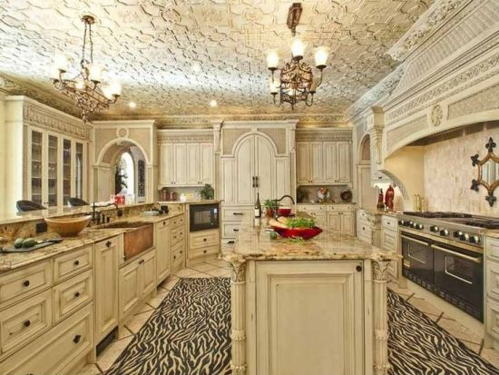Wooden luxury kitchen cabinet design