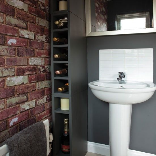 33 bathroom designs with brick wall tiles ultimate home for Bathroom wallpaper designs