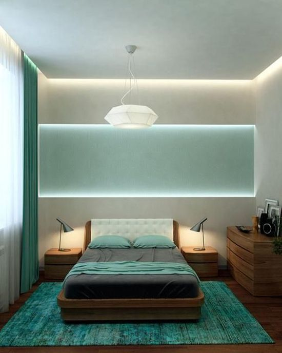 contemporary lighting idea for small bedrooms