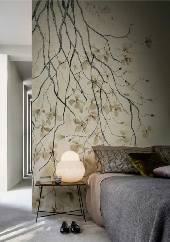 elegant floral wallpaper design trend for 2016 - Hot Bedroom Designs