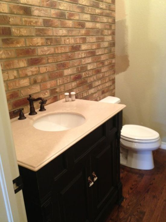 Exceptional Gorgeous Faux Brick Panels Above Sink Nice Ideas