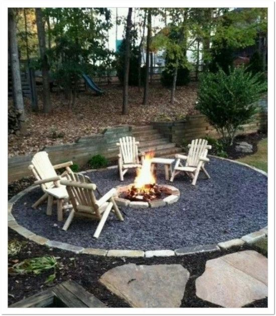 33 diy firepit designs for your backyard ultimate home ideas for Diy home design ideas landscape backyard