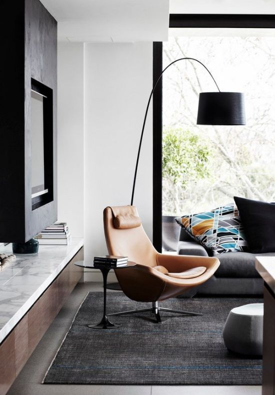 chic floor lamp to add style to the corner of your living room - Living Room Lamps