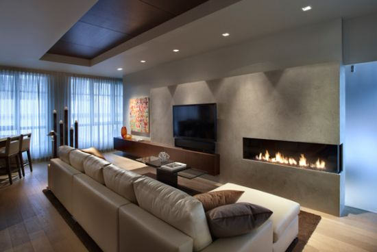 Corner Mood Lighting Idea Adds A Stylish Punch To This Living Room
