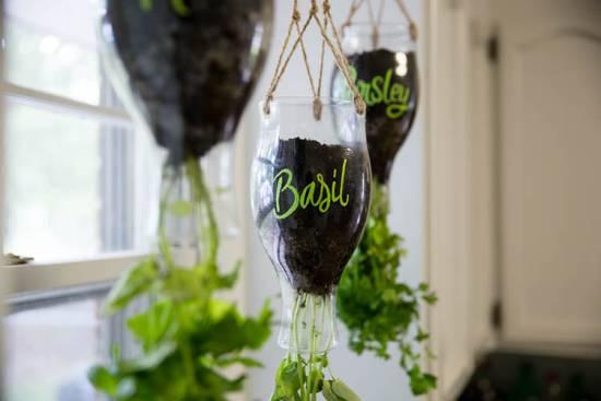 DIY Califia Hanging Herb Garden