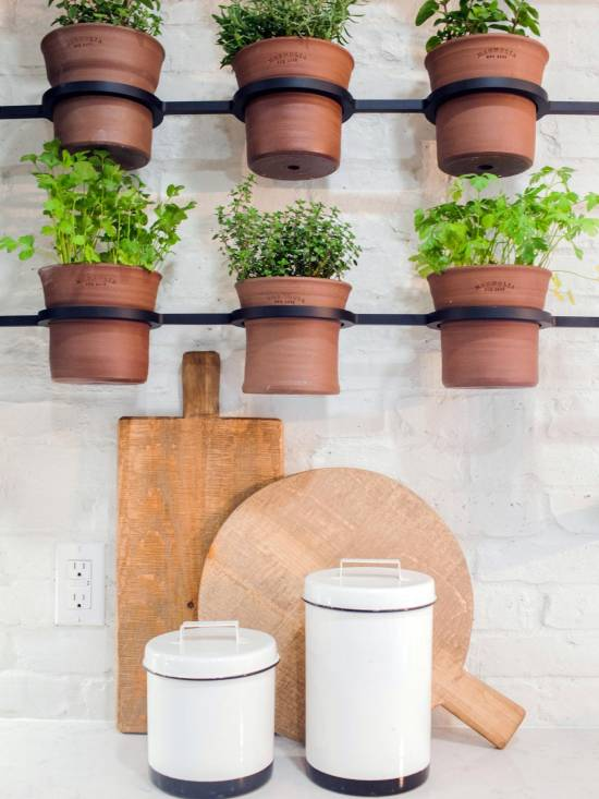 Hanging Herb Garden With Pots
