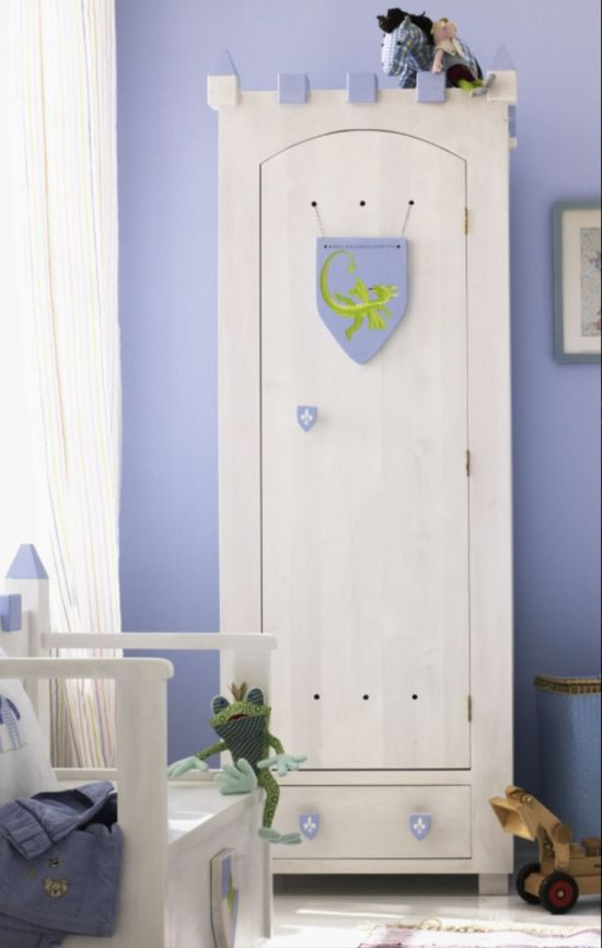 Medieval Style Cupboard For Kids Bedroom