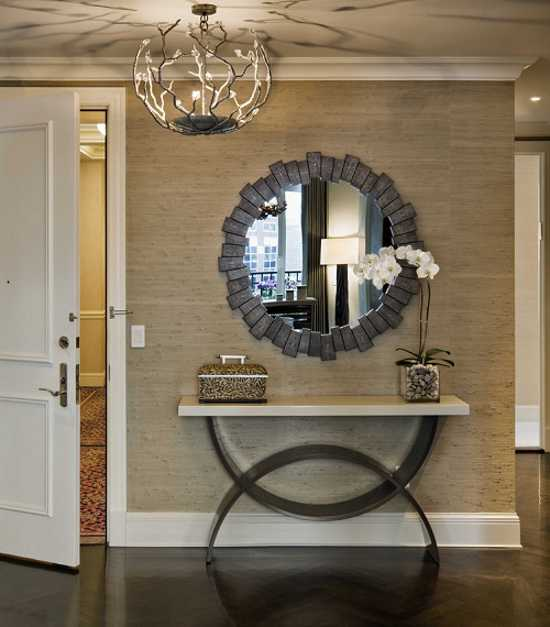 36 modern entrance design ideas for your home for Foyer decorating ideas small space