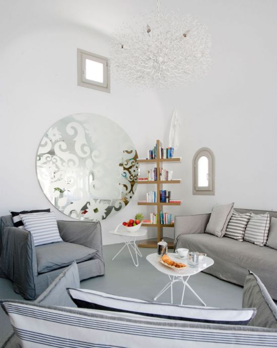 Large Living Room Mirrors A Big Round Mirror With Ornate Designs