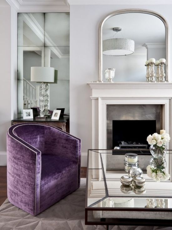 Large Wall Mirrors For Living Room Beautiful Silver Decorative Mirror Seen Above The Fireplace