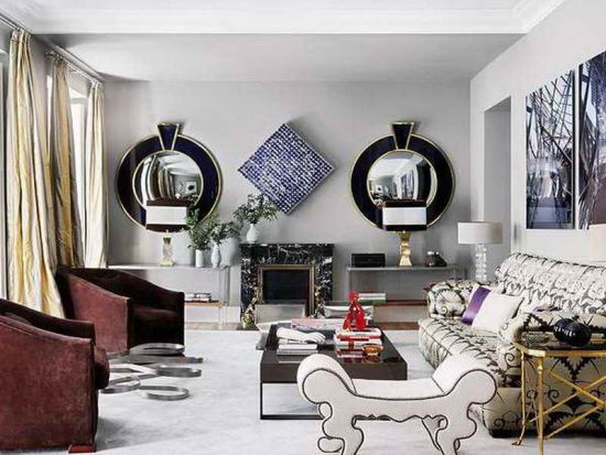 Great Decorative Mirrors For Living Room Black And Silver Pair Of Round Mirrors