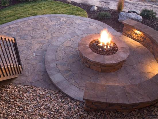 Brick Firepit Design