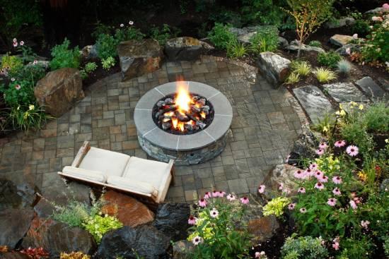 Brick and Concrete Fire Pits