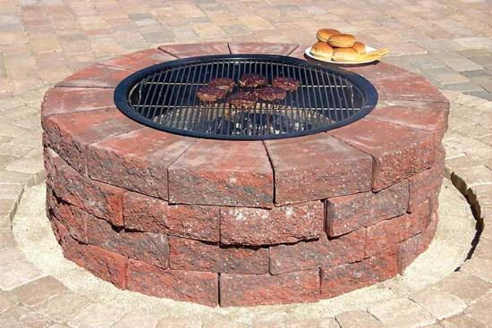 Clay Brick Fire Pit Design