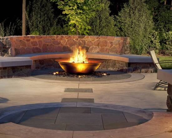 Decorative Bowl for Backyard Fire Pit