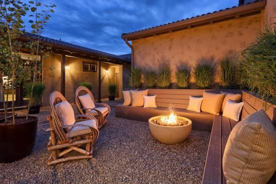 Natural Gas Fire Pit In Patio