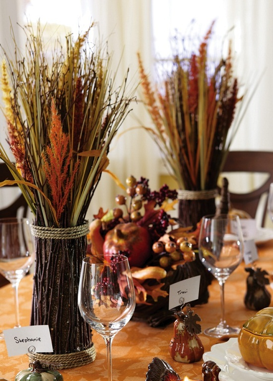 DIY thanksgiving centerpieces