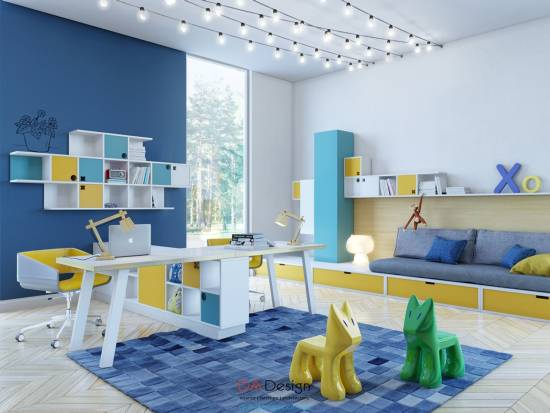 37 joyful kids room design ideas with blue yellow tones Decorating with yellow and blue