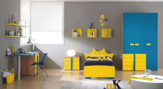 7 Inspiring Kid Room Color Options For Your Little Ones: 37 Joyful Kids Room Design Ideas With Blue & Yellow Tones