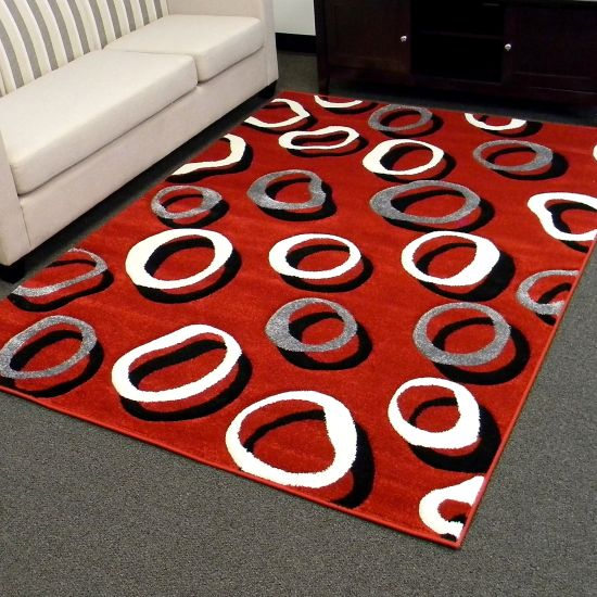 Charming Circular Patterned Geometric Rug