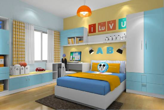 Yellow And Blue Walls For Boys Bedroom