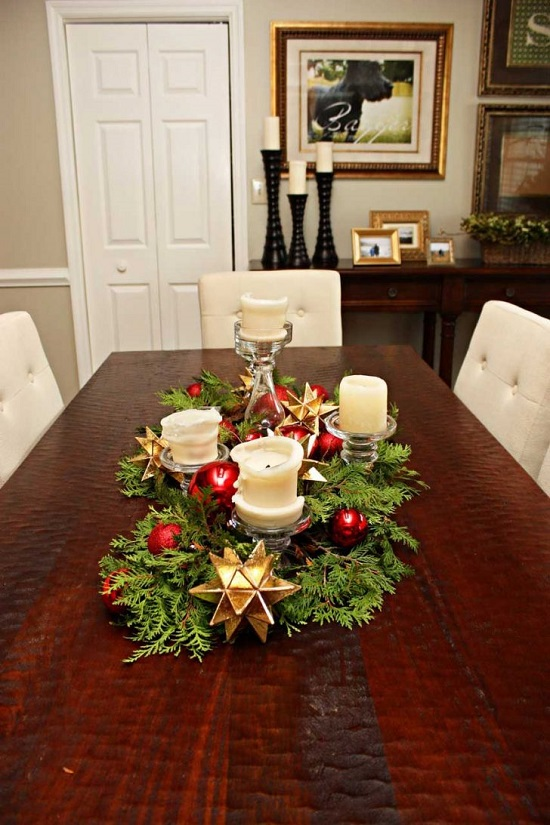 christmas table centerpieces with candles - Christmas Table Centerpieces