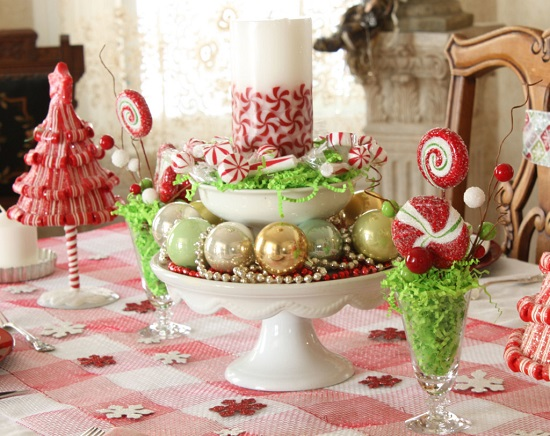 Christmas centerpiece for tables