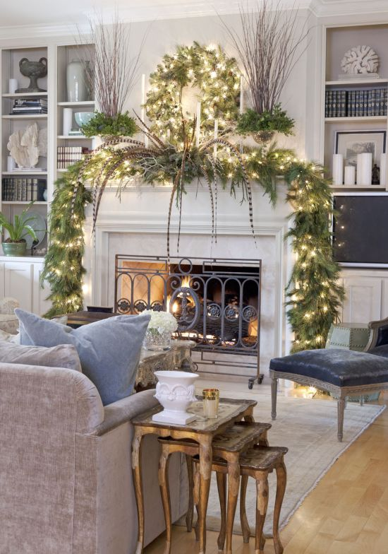 37 Inspiring Christmas Mantel Decorations Ideas | Ultimate Home Ideas