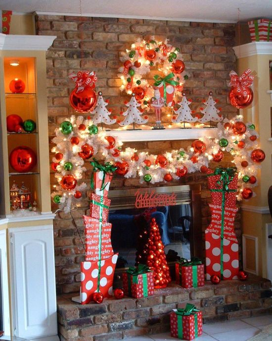 37 inspiring christmas mantel decorations ideas ultimate for Easy christmas home decorations