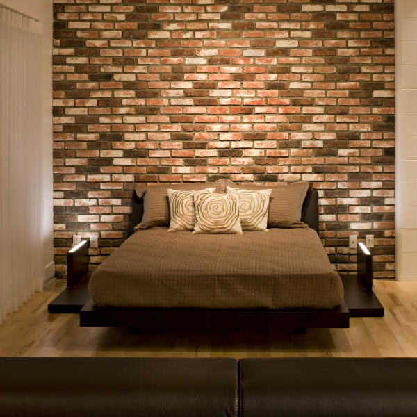 Bedroom Brick Accent Wall