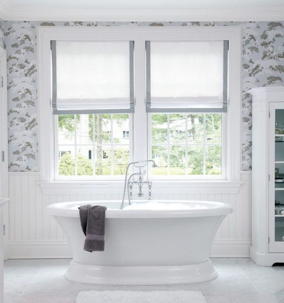Creative window treatment ideas for your bathroom Bathroom designs with window in shower