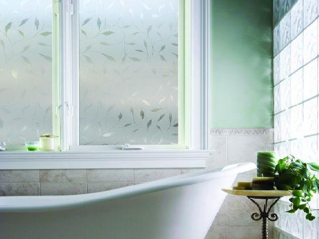 Window film for bathroom
