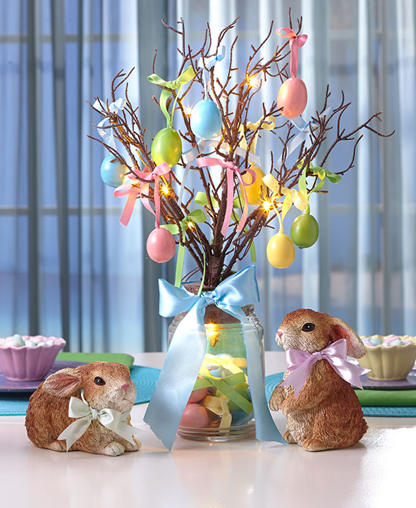 Lighted Easter Tree Centerpiece