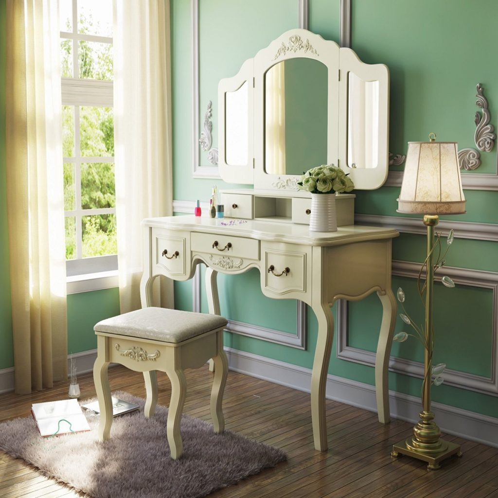 french vintage vanity