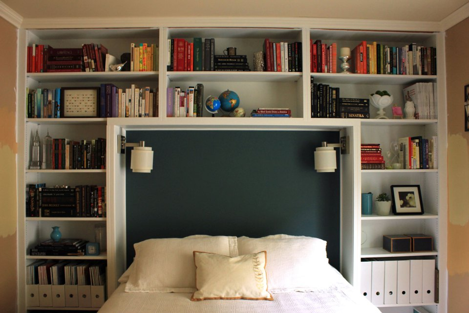 Elegant Bookshelf Headboard