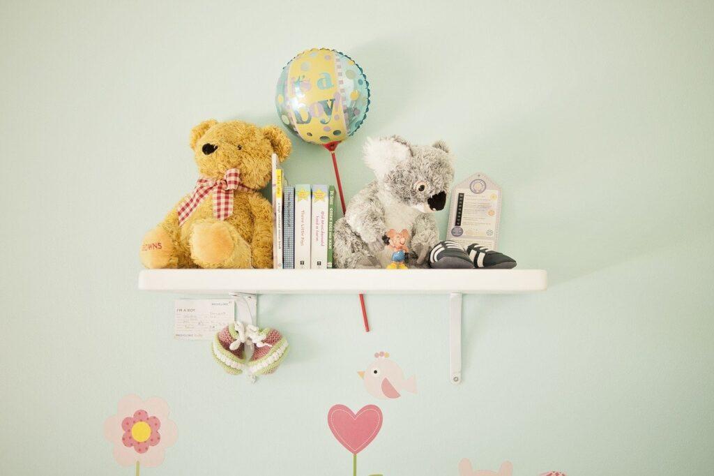 floating shelf baby room