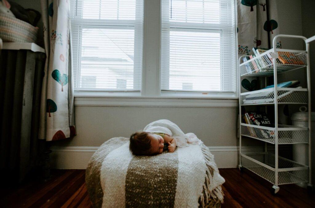 Baby sleeping in nursery