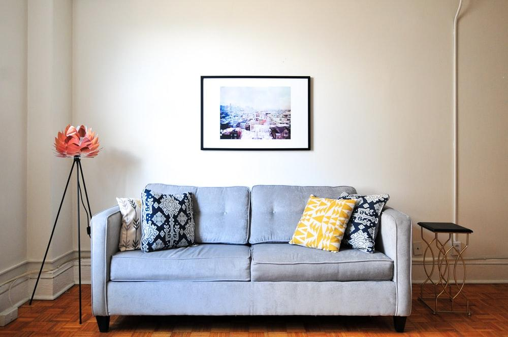 Picture of a loveseat in a living room