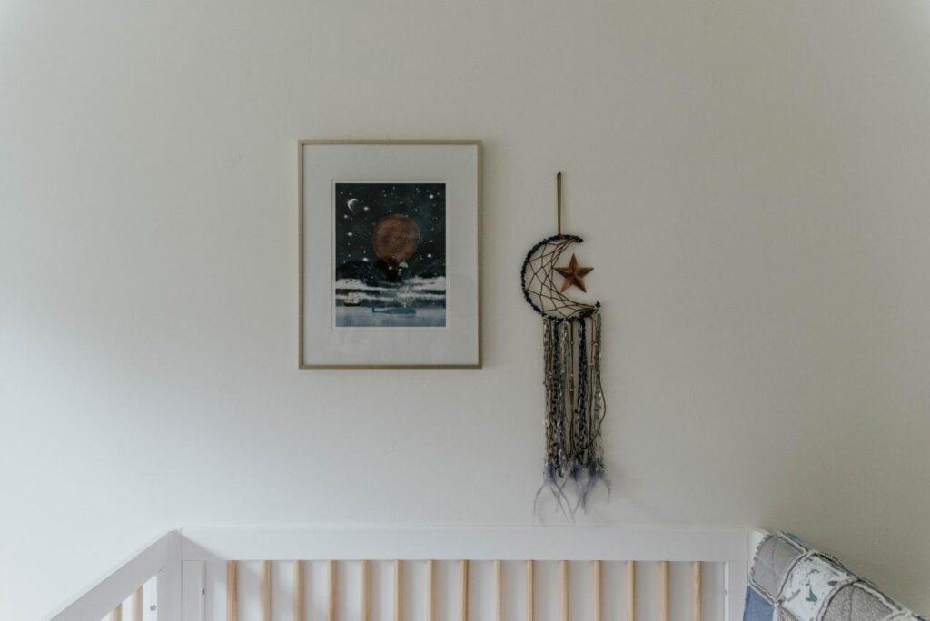 Minimalism in a nursery room