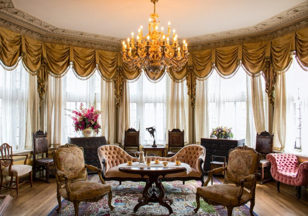 Traditional design with ornate furniture and accent pieces