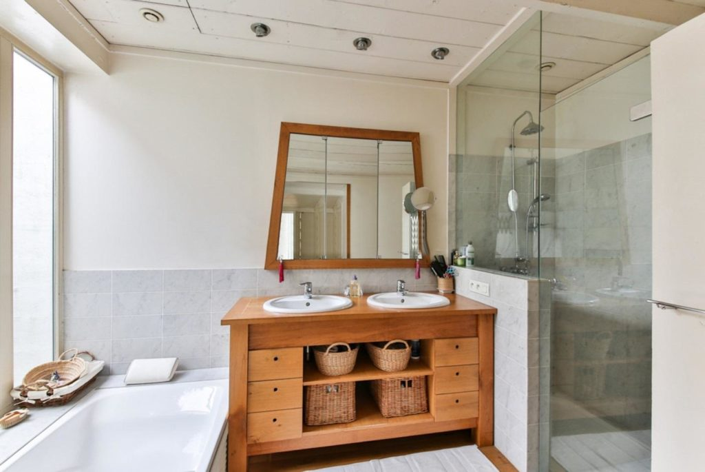 Bathroom wood furniture
