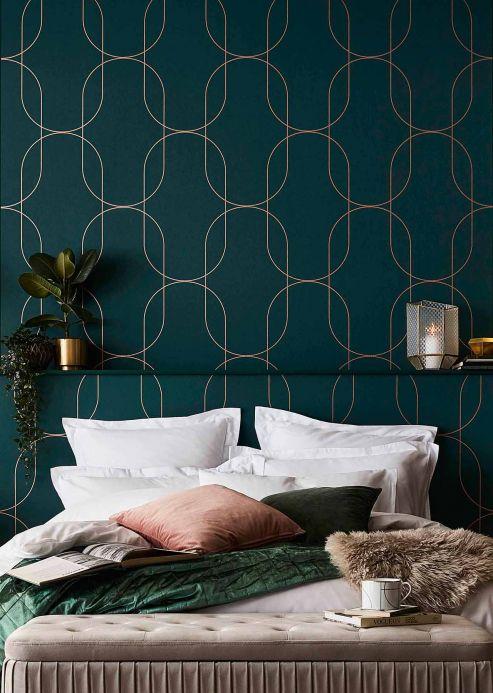 Luxury Wallpaper Wallpaper Palazzo pine green Room View